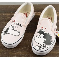 VANS X Peanuts Slip-On Snoopy Canvas Old Skool Flats Sneakers Sport Shoes