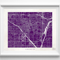 Anaheim Map, California Print, Anaheim Poster, California Art, Decor Idea, Home Town, Giclee Print, Home Decor, Halloween Decor
