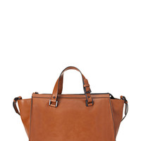 FOREVER 21 Unstructured Faux Leather Satchel