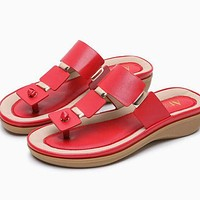 Fashion Women Slippers Flip Flops Beach Shoes Wedges Slides Girls Flat Sandals Casual Sandals And Slippers