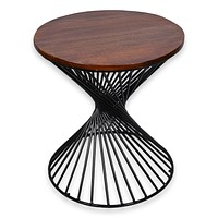 Reclaimed Industrial 20 Inch round Side table | Accent Table | End Table