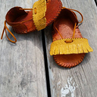 Leather Fringe baby sandals bohemian baby sandals baby gladiator sandals gift for baby