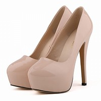 New Brand women pumps wedding party dress OL high heels shoes woman platforms stiletto round toe ladies shoe