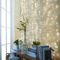 White Multi-Strand LED Curtain Glimmer Strings®