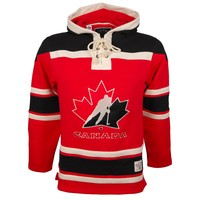 Team Canada Heavyweight Jersey Lace Hoodie