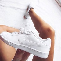Nike Court Royale All White Casual Sneaker