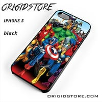 Marvel Heroes Comic Poster For Iphone 5 Iphone 5S Case UY