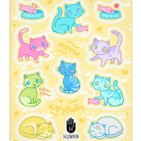 CUTE COLORFUL CAT STICKERS - PREORDER