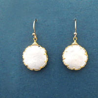 Mother of Pearl, Gold filled, Hooks, Gold, Earrings, Birthday, Wedding, Best friends, Sister, Gift, Jewelry