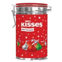 Hershey's Holiday Kisses Milk Chocolate Canister, 10 Ounce