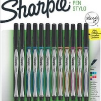Sanford Sharpie Fine Point Pen Stylo, Assorted Colors, 12-Pack (1802226)