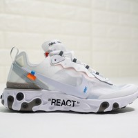 Off White x Nike Upcoming React Element 87 AQ0068-100