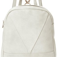 POVERTY FLATS by rian Raised Dot V Backpack, Camel, One Size
