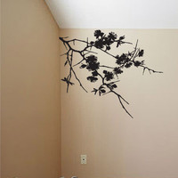 Wall Decal Sticker Hanging Flower Branches #754