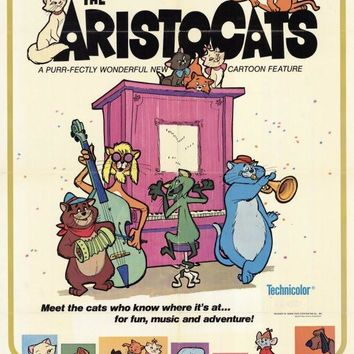 The Aristocats 11x17 Movie Poster (1971)