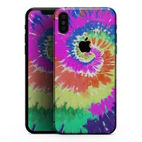 Spiral Tie Dye V1 - iPhone XS MAX, XS/X, 8/8+, 7/7+, 5/5S/SE Skin-Kit (All iPhones Available)