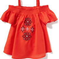 Embroidered Off-the-Shoulder Top for Toddler | Old Navy
