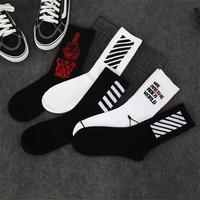 Fashion Man Socks Cotton Street Style Hiphop Skateboard Socks For Male Harajuku Fashion Crew Streetwear Socks Sokken Meias