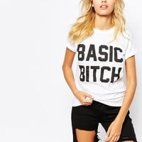Adolescent Clothing Boyfriend T-Shirt With Basic Bitch Print