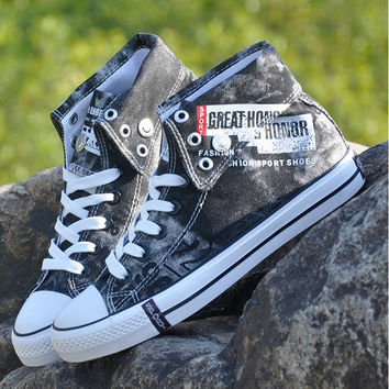 Discount!2016 New Star Fashion Men high-top canvas shoes male tidal cowboy shoes fall leisure shoe breathable shoes all size Eur