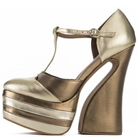 Jeffrey Campbell for Women: Lucetta Gold Platform Wedges