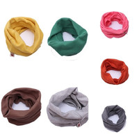 Chirldren Boys Girls Scarf Fashion O Ring Knitted Baby Child Candy Color Autumn = 1958612164