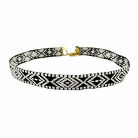 Tribal Pattern Choker Necklace