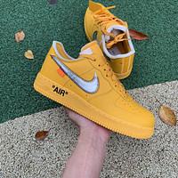 """Off-White x Nike Air Force 1 Low """"University Gold"""" ow size 36-47.5"""