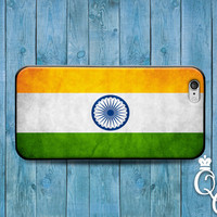 iPhone 4 4s 5 5s 5c 6 6s plus + iPod Touch 4th 5th 6th Generation Cool White Green Stripe Indian Indian Flag Cover Cute Country Custom Case