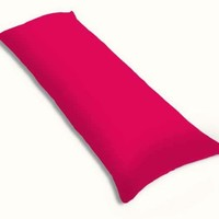 SheetWorld Butter Soft 100% Cotton Jersey Knit Body Pillow Case - Hot Pink - Made In USA