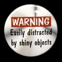 Warning Easily Distracted By Shiny Objects by theangryrobot