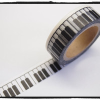 Washi tape - Piano Keys- 15mm Wide - 11 yards  WT414