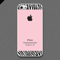 iPhone 5 Case - Zebra pattern on pInk color - also available in iPhone 4 and iPhone 4S size