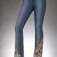 Boston Proper Embellished leg boot-cut jean