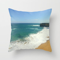 Beach Throw Pillow by Chris' Landscape Images & Designs