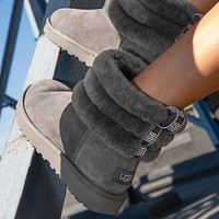UGG Girls Casual Half Boots Trending Shoes-7