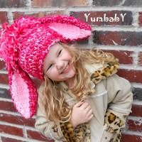 Bunny Hat for Girls with Floppy Ears Pink Bunny Photo Props for Easter