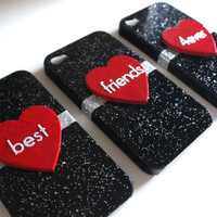 Best Friends iPhone 4/4S 3 Case Set by VanityCases on Etsy