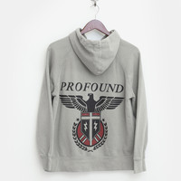 Profound Eagle Aviation Zip Up Hoodie in Faded Moss