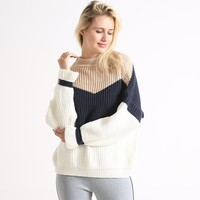 Knit Winter Stripes Pullover Tops Sweater [1447966867553]