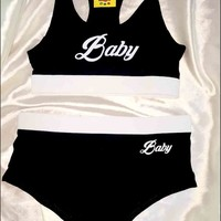 SWEET LORD O'MIGHTY! BABY UNDERWEAR SET IN BLACK