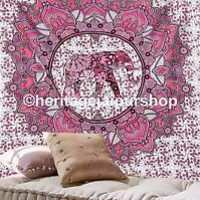 Queen Hippie Indian Tapestry Elephant Mandala Throw Wall Hanging Gypsy Bedspread