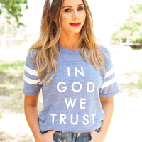 In God We Trust Tee- Blue