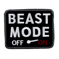 """Beast Mode """"On"""" Gamer Patch Iron on Applique Alternative Clothing"""