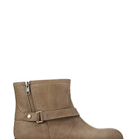 FOREVER 21 On-The-Edge Buckled Booties Taupe