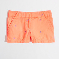 """Factory 3"""" embroidered broken-in chino short"""