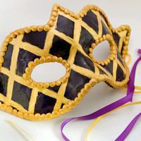 Harlequin design Venetian style mask comfortable to by amberhlynn