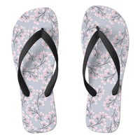 cherry blossom mauve flip flops | Zazzle.co.uk