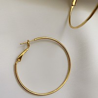 Graciela 40mm Thin Gold Hoops