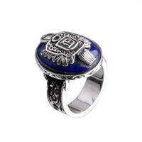 New Vintage Silver Color Vampire Diaries Damon Ring Best Gift (Color: Silver) = 1946061444